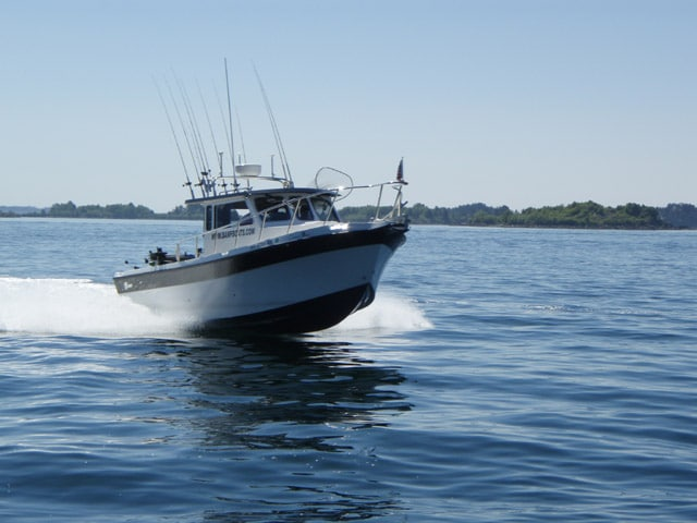 BAMF Fishing Boat used by Big Blue Charters during Alaska Fishing trips.