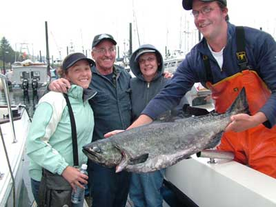 2007 Alaska Salmon Fishing - Family style--with Big Blue Charters.