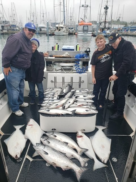 August 17, 2019 -Family enjoys a day of Alaska fishing with Big Blue Charters.