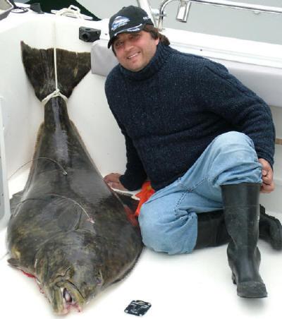 Alex with 150lb+ halibut